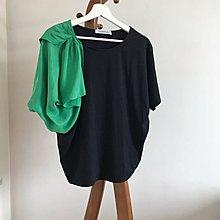 意大利大牌 綠蝴蝶結 設計 黑色上衣