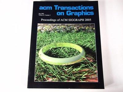 【考試院二手書】《acm Transaction on Graphics》│八成新(22Z12)