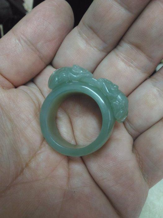 喀什古麗的眼淚_新疆和闐仔料_極品羊脂玉_內徑21.5mm_數錢扳指_99活動精品系列