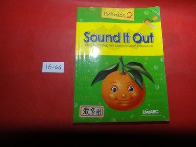 【愛悅二手書坊 16-06】Sound It Out Phonics2   LiveABC(內附光碟/封面為綠色)