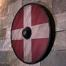 歐洲中世紀維京複古仿真仿古木制盾牌歐式酒吧咖啡西餐廳掛裝飾(此款為木製)