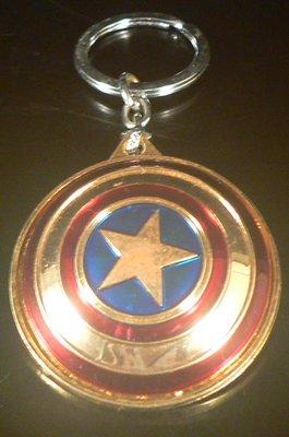 乖乖@賣場~漫威英雄美國隊長Captain America金屬鑰匙圈.鑰匙扣吊飾.美國隊長可旋轉鑰匙圈.VO573