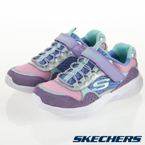 【曼曼鞋坊】SKECHERS 童鞋 女童 休閒鞋 運動鞋 慢跑鞋 記憶鞋墊 復古風 粉紫 81954LLVMT