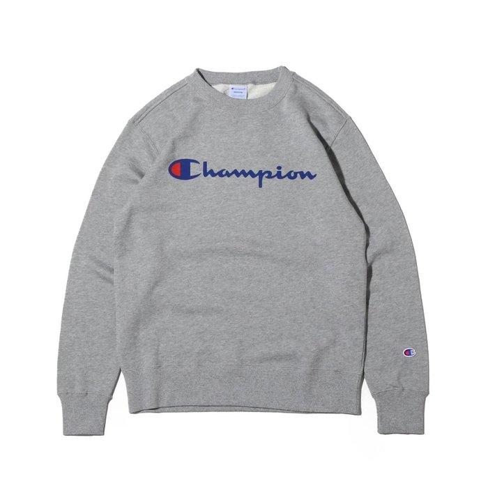 沃皮斯§Champion Basic Logo 大學Tee (灰色) C3-H004-070