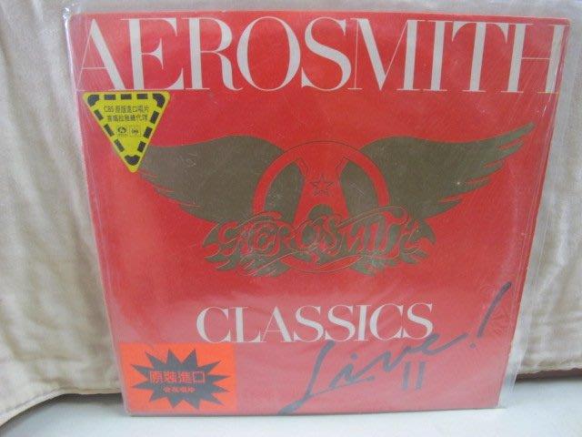 二手舖 NO.3941 黑膠 西洋 Aerosmith 史密斯飛船合唱團 - Classics Live II