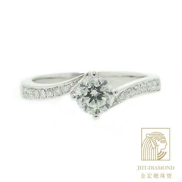 【JHT 金宏總珠寶/GIA專賣】婚戒/鑽戒 女鑽石戒台 (不含搭配主鑽)JRB026