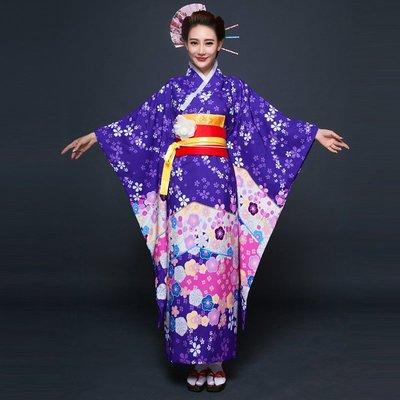 高雄艾蜜莉戲劇服裝表演服*日本和服/動漫改良紫色櫻花女和服*購買價$1800元/出租價$500元