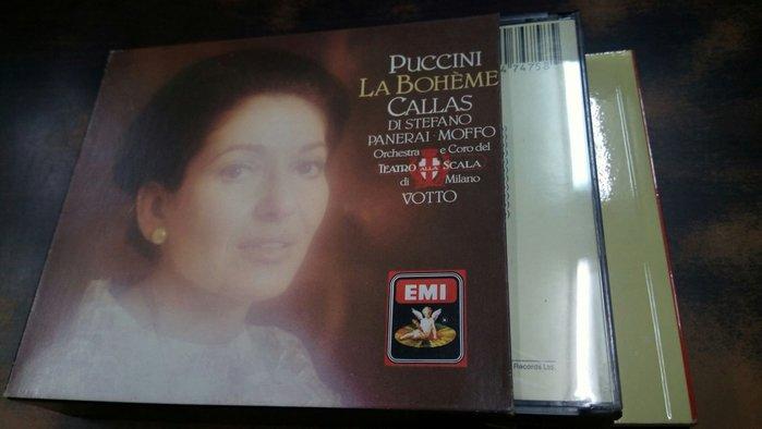 好音悅 Callas 卡拉絲 Votto Puccini 普契尼 La boheme 2CD EMI 西德版 無IFPI