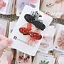 PARANOID韓國進口Palmtree兒童髮飾可愛網紗亮片蝴蝶結髮夾公主寶寶鴨嘴夾