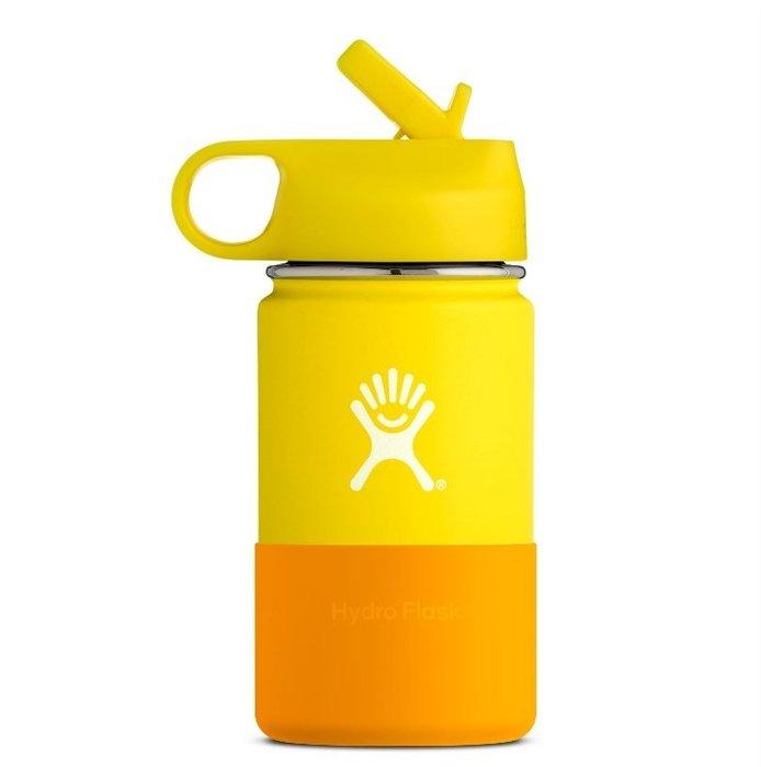 【線上體育】HYDRO FLASK 12oz 兒童寬口保溫鋼瓶 檸檬黃, OS HFW12SWBB740