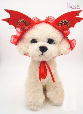 ☆[Hankaro]☆ 寵愛毛小孩搞怪小惡魔紅色造型頭飾裝扮組(共三種尺寸)