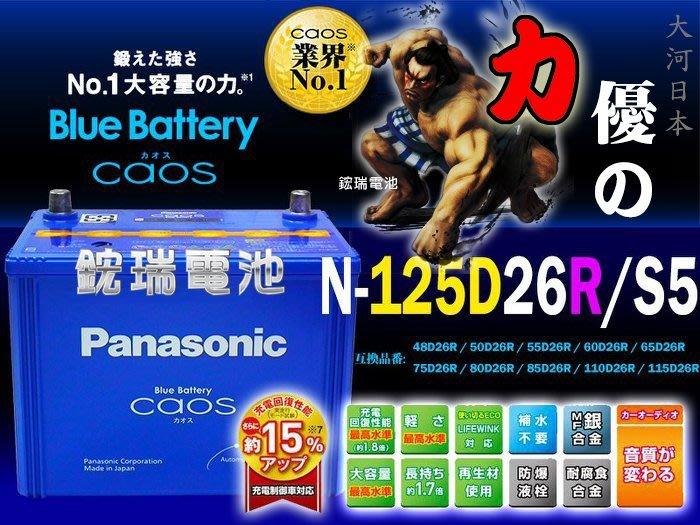 【鋐瑞電池】國際牌 銀合金 日本製造 125D26R Panasonic  充電制御 U5 U6 U7 M7 S5