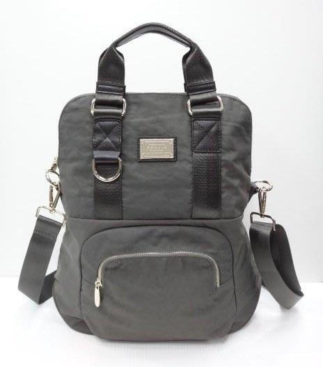 *迪奧小店*BONNIE韓版鐵牌3 way三合一手提包-後背包-斜背包/可A4/特價/深鐵灰綠