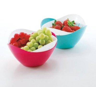 【雷恩的美國小舖】日本製 SANADA花形雙層瀝水籃 水果籃 置物籃 瀝水盤 收納盤 零食籃 盆子 盤子 籃子 收納