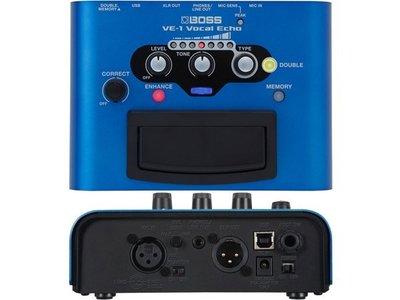 造韻樂器音響- JU-MUSIC - Boss VE-1 Vocal Echo VE1 主唱 人聲 效果器 缺貨中