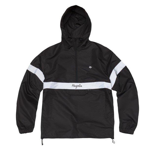 [JIMI 2] Magenta - 96 連帽尼龍風衣外套 半拉式拉鍊 3M反光條 法國巴黎超人氣滑版品牌