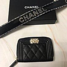 Chanel zip around card case