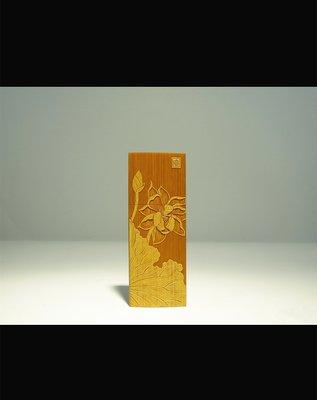 名家裘立剛手工竹雕荷花留青牙籤盒 唐宋元明清民國陶瓷器玉器字畫佛教文物石雕木雕雜項紫砂茶器酒器花器茶葉古董珠寶藝術品交流