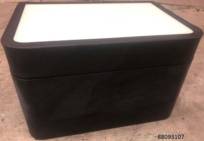 【弘旺二手家具生活館】零碼/庫存 黑色皮面床頭櫃 鄉村風床頭櫃 胡桃床頭櫃 雙人床箱-各式新舊/二手家具 生活家電買賣