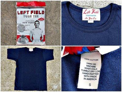 西方不敗美國製手工Left Field Tube Tee 2 Pack 兩件入圓筒T 海軍藍 素T 衣服 短Tee T恤