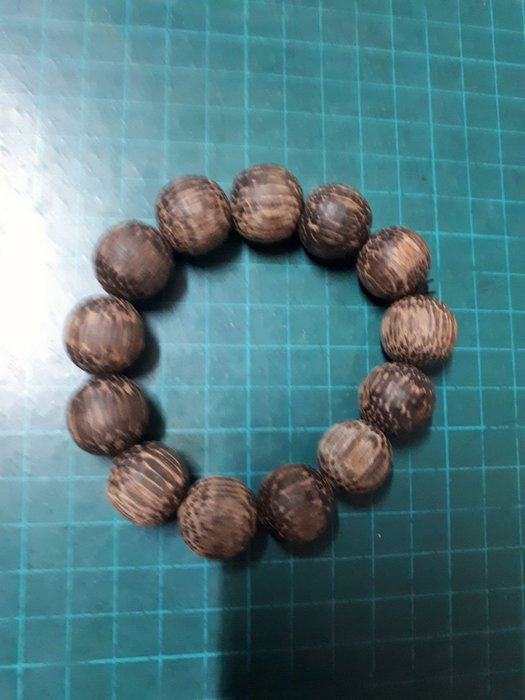 印尼沉水蛇鱗木17mm13顆香珠手串