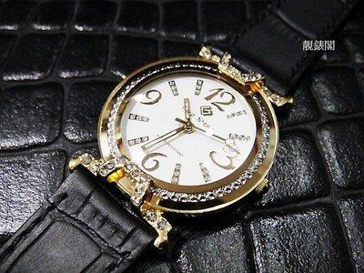 【靚錶閣】立體晶鑽錶耳.凸型鏡面風格腕錶‧非雷達 RADO