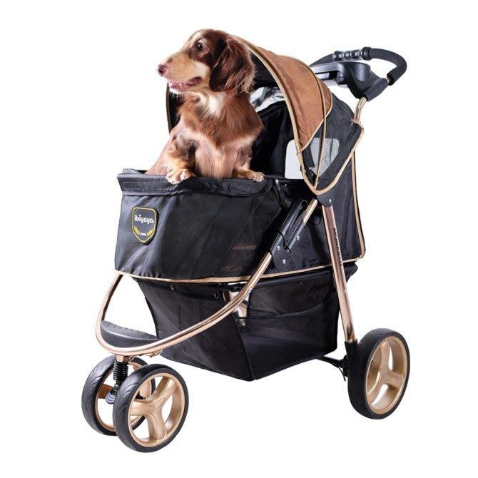 COCO《載重30KG》IBIYAYA尊爵號鋁合金寵物推車FS1616(奢華金)適合中小型寵物/犬貓適用/依比呀呀