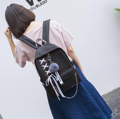 學院風帆布包 雙肩包 後背包 書包 旅行包 百搭學生背包