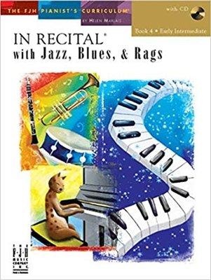 【599免運費】In Recital with Jazz, Blues, and Rags, Book 4 F1742