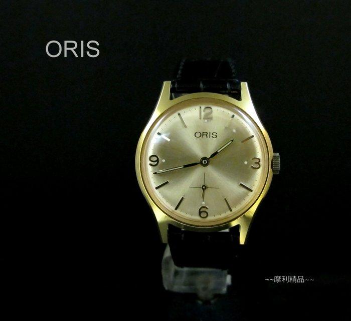 【摩利精品】ORIS 中型金色手上鍊錶    *真品* 低價特賣中