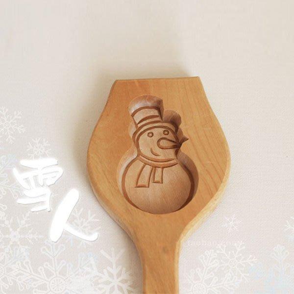 5Cgo 【批發】含稅會員有優惠 36599282756 木質 南瓜餅年糕點心童糕印小雪人饽饽卡子 模具 烘焙用具