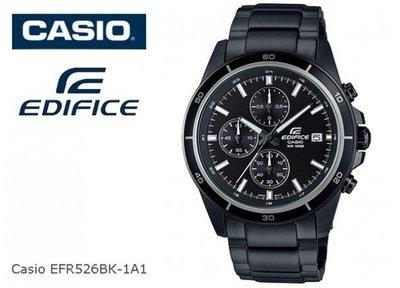 CASIO手錶EDIFICE三針三圈賽車錶EFR-526BK-1 A1黑色離子IP CASIO公司貨EFR-526 雲林縣