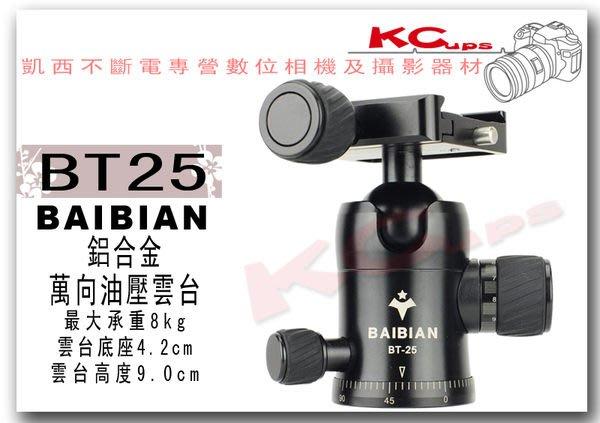 【凱西不斷電】BAIBIAN BT-25 專業 萬向 油壓雲台 有環景及組尼可調