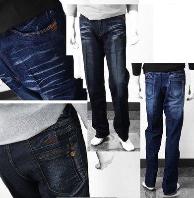 【肚子大】B650-牛仔褲/丹寧褲-後電繡/剪接-修飾身形