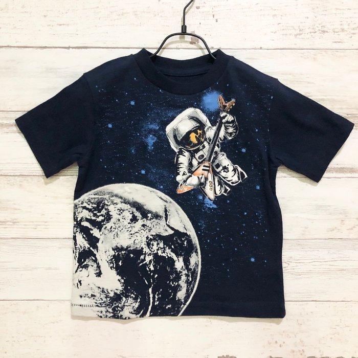 Maple麋鹿小舖 美國購買 童裝品牌baby Gap 男童深藍色太空圖樣短T * ( 現貨18-24mos. )