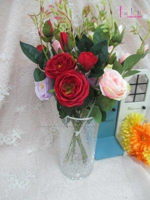 ☆[Hankaro]☆創意流行長柱裂紋玻璃花瓶(樣品出清)