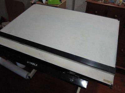 【設計人】二手 A0製圖桌、含腳架、平行尺、磁性面板,適合建築科   室內設計科 學生    室內設計乙級技術士 製圖桌
