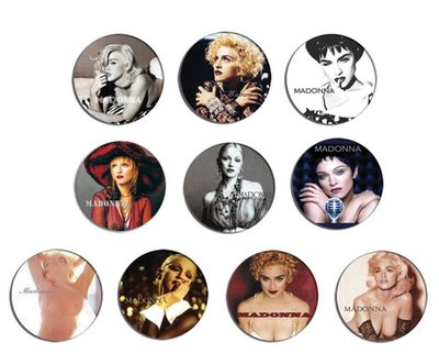 現貨 MADONNA 90's Portrait pinback BADGE SET 1b 襟章 徽章 (一套10個)