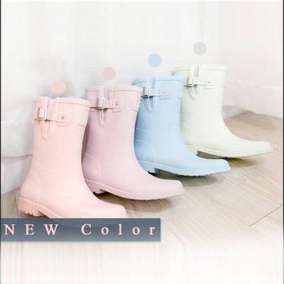 Copy&Paste【免運】韓國訂單.甜美可口馬卡龍冰淇淋糖果色天然橡膠中筒雨靴/雨鞋 35-40 (預購) in kr