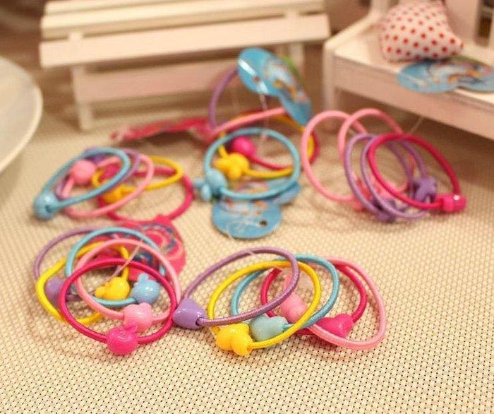 【現貨】韓版可愛糖果色髮圈 (一小包50條)馬卡龍 兒童髮圈 頭飾 橡皮筋