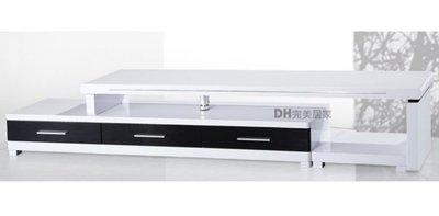 【DH】貨號Q185《曼其》白色烤漆伸縮電視櫃/長櫃˙質感一流˙潔白設計˙主要地區免運