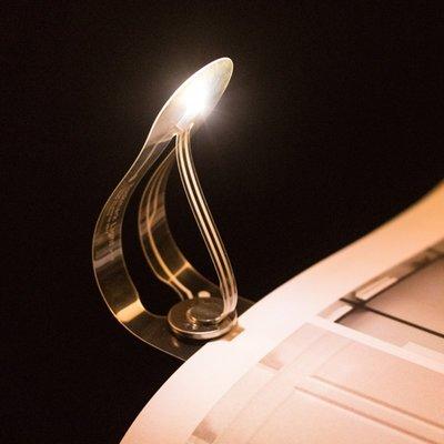 哈尼店鋪*Bookmark簡約書簽燈發光led便攜夜光讀書小夜燈宿舍畢業商務禮品優惠推薦