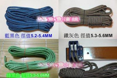 【魚魚滴線】 [每條含鐵扣2個賣場]一條13米 藍黑色 135元【窗簾式,手拉式曬衣架拉繩】
