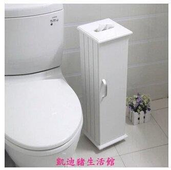 【凱迪豬生活館】簡約衛生間卷筒紙櫃/浴室收納櫃/馬桶邊櫃隔板高度可自由調節KTZ-200888