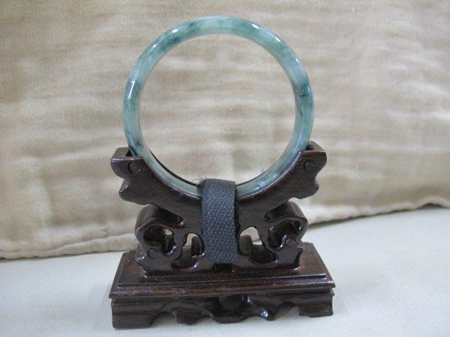 二手鋪 NO.3064 天然翡翠 A貨 玉石手鐲 滿綠 玉環 玉鐲