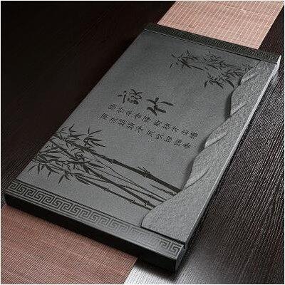 【優上】詠竹加石底座37寬烏金石茶磐石頭茶盤天然黑金石茶臺