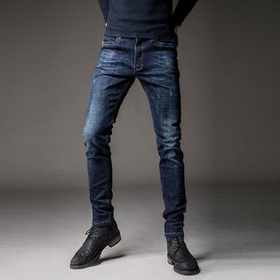 寬管褲 3D褲 窄管褲 休閒褲 牛仔褲男修身韓版潮流個性口袋鑲皮 小腳 褲男士 彈力 長褲子男