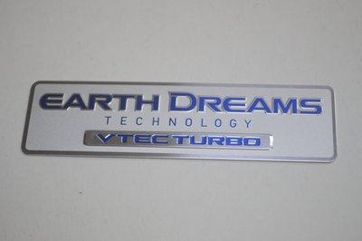 【翔浜車業】HONDA 本田(日本純正)EARTH DREAMS 地球夢 VTEC TURBO 金屬標誌