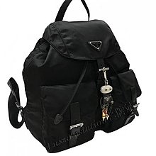 全新Prada 1BZ811_V44_F0002 fabric backpack黑色絹料背囊