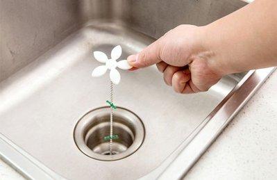【陳凱蒂居家生活館】Drain wig小花下水槽清理疏通鉤(一組2入)